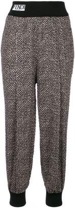 Fendi embroidered track trousers
