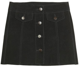 Finger In The Nose Suede Skirt