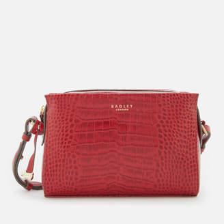 Radley Women's Abbotsford House Small Cross Body Bag Ziptop - Claret/Fauxcroc