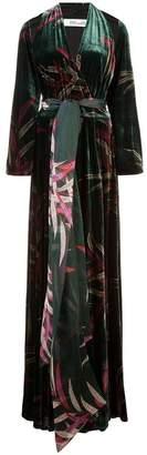 Diane von Furstenberg leaf print wrap dress