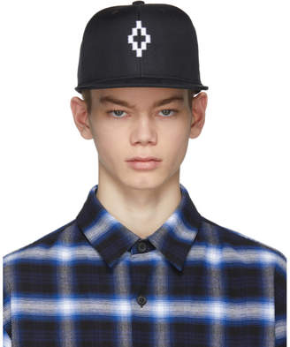 Marcelo Burlon County of Milan Black and White Starter Edition Cruz Cap