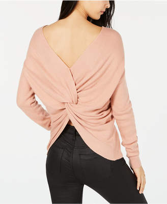 Bar III Twist-Back Sweater, Created for Macy's
