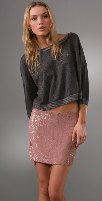 Haute Hippie Cropped Sweatshirt