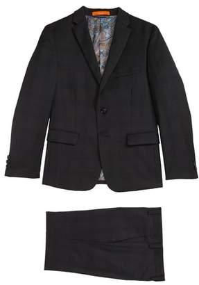 Tallia Plaid Wool Suit