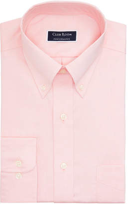 Club Room Men Big & Tall Classic/Regular-Fit Performance Stretch Wrinkle-Resistant Pinpoint Dress Shirt