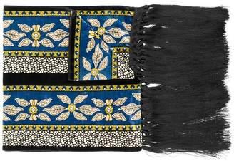 Forte Forte tassel detail printed scarf
