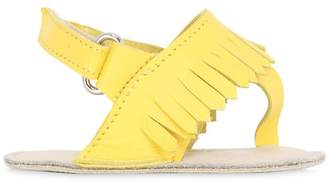 Fringed Nappa Leather Sandals