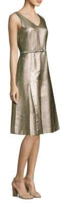 Lafayette 148 New York Lois Metallic A-Line Dress