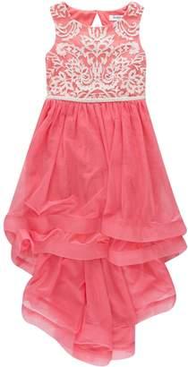 Speechless Girls 7-16 Ruffle & Embroidered Tulle Dress