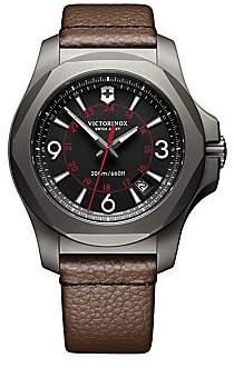Victorinox Men's Inox Titanium & Leather Watch