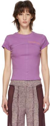 Eckhaus Latta Purple Lapped Baby T-Shirt