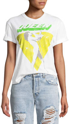 Alice + Olivia Ao.La By Alice+Olivia Shira Queen Roll-Sleeve Graphic Tee