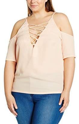 boohoo Plus Women's Jennie Lace up Open Shoulder Tops