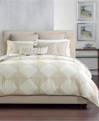 Hotel Collection Cotton Diamond Embroidered King Duvet Cover, Created for Macy's Bedding