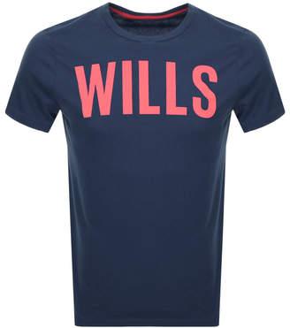 Jack Wills Wentworth Graphic T Shirt Navy