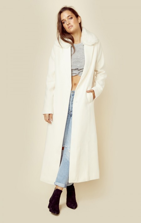 Winter White Coat - ShopStyle Australia