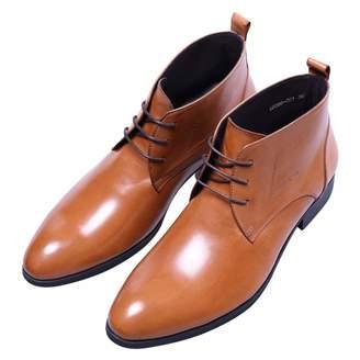 b8cc9a8d8253 Santimon Men s Lace Up Oxford Boots Classic Simple Style Dress Ankle Chukka  Boots 11 ...