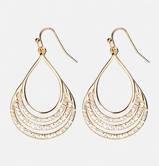 Avenue Encrusted Teardrop Earrings
