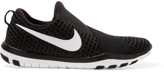Nike - Free Connect Mesh Sneakers - Black $100 thestylecure.com