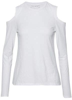 Robert Rodriguez Cold-Shoulder Cotton-Jersey Top