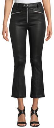 Rag & Bone Braxton Faux-Leather Cropped Pants