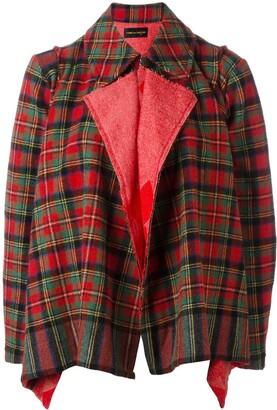 Comme des Garcons Pre-Owned tartan shrug jacket