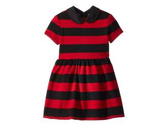 Polo Ralph Lauren Striped Stretch Ponte Dress (Toddler)