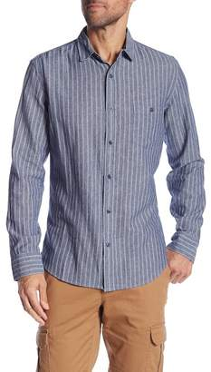 WALLIN & BROS Striped Chambray Long Sleeve Casual Shirt