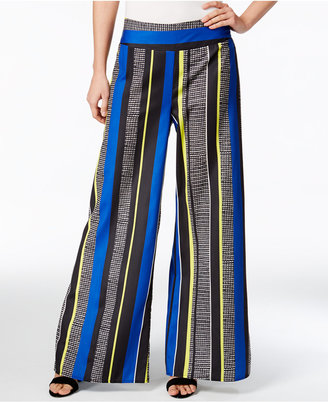 Bar III Striped Wide-Leg Pants, Only at Macy's $59.50 thestylecure.com