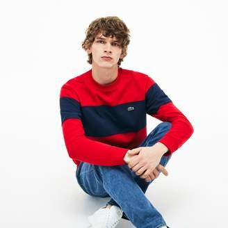 Lacoste Men's Crew Neck Colorblock Cotton Fleece Sweatshirt