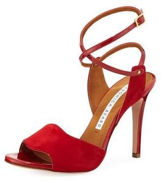 dd9a9aadd60 at Neiman Marcus · Veronica Beard Suma Fine Suede High-Heel Ankle-Wrap  Sandals