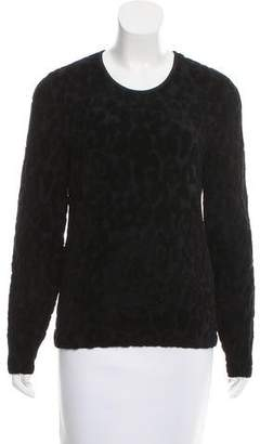 Burberry Intarsia Scoop Neck Sweater