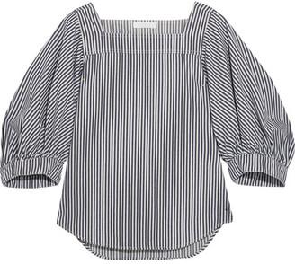 Chloé - Striped Denim Top - Light denim