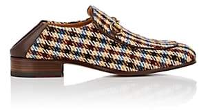 Gucci Men's Horse-Bit Checked Wool Loafers - Brown