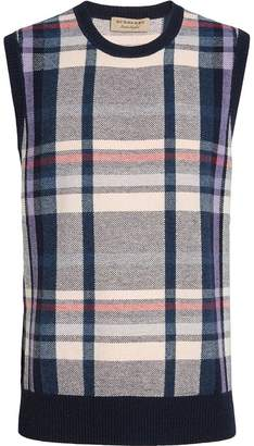Burberry Check Cashmere Tank Top