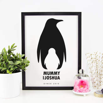The Little Picture Company Personalised 'Mummy And Me' Animal Silhouette Print