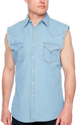 Ely Cattleman Sleeveless Snap-Front Shirt