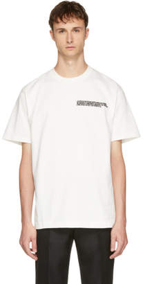 Calvin Klein Off-White Logo Text T-Shirt
