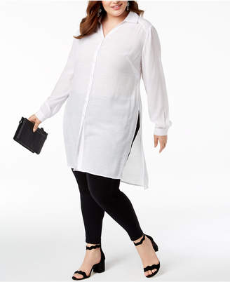 INC International Concepts I.n.c. Plus Size Long Tunic Shirt