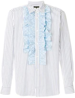 Comme des Garcons pleated striped shirt