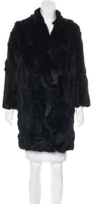 Adrienne Landau Knee-Length Fur Coat w/ Tags