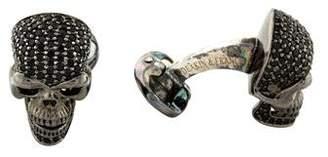 Deakin & Francis Black Spinel & Ruby Skull Cufflinks