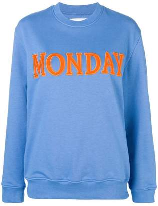 Alberta Ferretti Monday patch sweatshirt