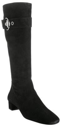 Gucci black suede 'Romy' horsebit buckle boots