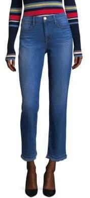Frame Raw Hem Straight Leg Jeans