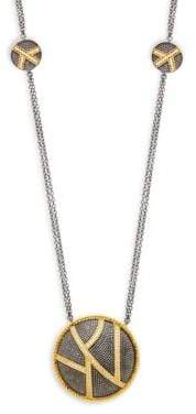Freida Rothman Textured Ornaments Dome Pendant Station Necklace