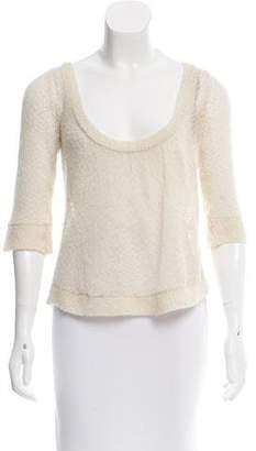 Diane von Furstenberg Scoop Neck Knit Sweater