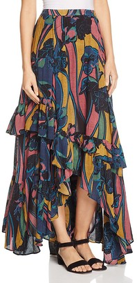 Free People Bring Back Summer Ruffle Maxi Skirt $148 thestylecure.com