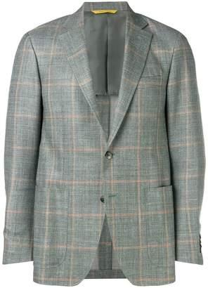Canali check blazer