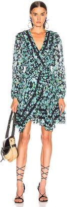 Zimmermann Moncur Wrap Mini Dress in Meadow Floral | FWRD